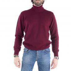 Bordeaux Wool&Cashmere Turtle-Neck Pullover