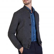 Dark Grey Wool&Cashmere Bomber Jacket