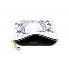 BEATRICE Printed clutch