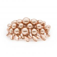 COLETTE Rose Gold Plated Bracelet with rose gold pearls and rose gold crystals