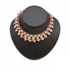 COLETTE Rose Gold Plated Necklace with rose gold pearls and rose gold crystals