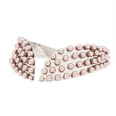 PEGGY Palladium Plated Choker Necklace with rose gold round studs