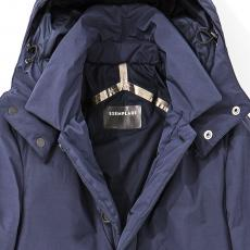 Blue Eco-Down Quilted Coat