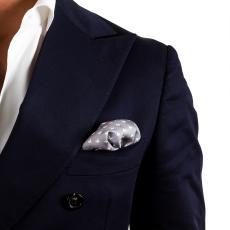 STARS Grey Silk Handkerchief