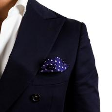 BUTTERFLY Blue Silk Handkerchief