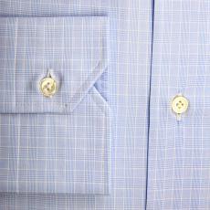 LONDON Azure Checkered Cotton Shirt