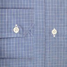 NEW YORK Blue Checkered Cotton Shirt