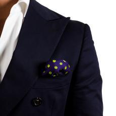 SMILE Blue Silk Handkerchief