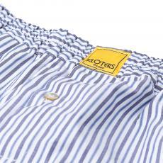 POPELINE Azure and Blue Stripes Boxer Shorts