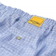POPELINE Blue Checks Boxer Shorts