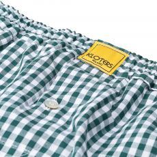 POPELINE Green Checks Boxer Shorts