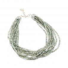NATURE Bohemia Green Crystals and Citrine Quartz Necklace
