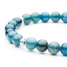 Blue Apatite & Silver Bracelet