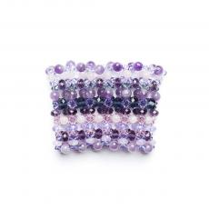 Swarovski, Crystals, Purple and Pink Quartz Flexible Bracelet