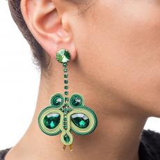 BIG BUTTERFLY SOUTACHE EARRINGS