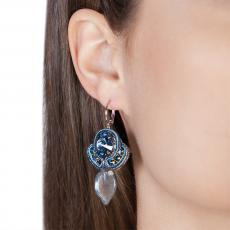 LITTLE ANGEL AZURE SOUTACHE EARRINGS