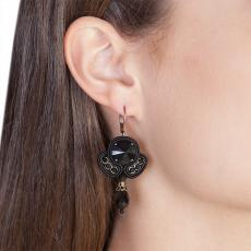 LITTLE ANGEL BLACK SOUTACHE EARRINGS