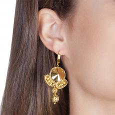 LITTLE ANGEL GOLD SOUTACHE EARRINGS