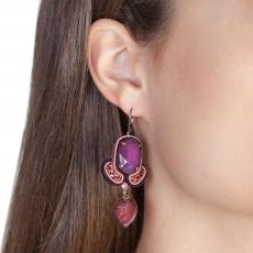 LITTLE ANGEL PURPLE SOUTACHE EARRINGS
