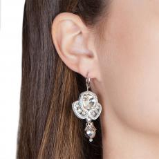 LITTLE ANGEL SILVER SOUTACHE EARRINGS