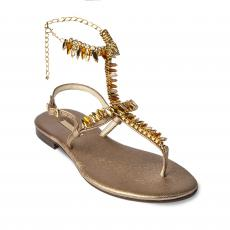 GOLDEN High with Yellow Crystals Embellished Sandals