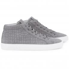 CROCO Grey High Top Sneakers