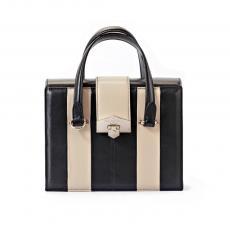 VALENTINE Black and Rose Nappa Leather HandBag