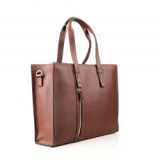MARTY Brandy Grained Calf Leather TRAVEL & BUSINESS BAG