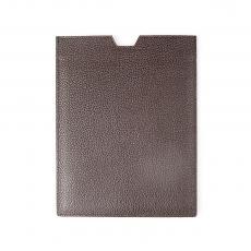 Brown Grained Calf Leather IPAD CASE