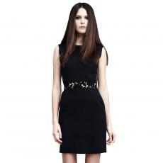 DESIRABLE Black Wool Crêpe Short Dress
