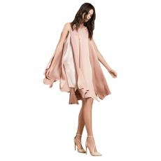 MILONGA Blush Short Satin Dress