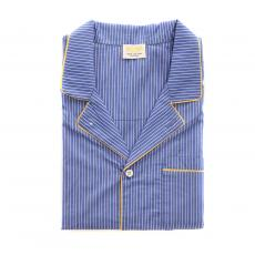 Royal Blue Stripes Cotton Pyjama