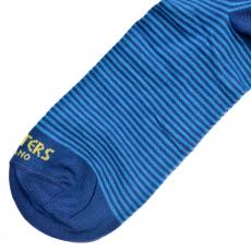 Azure and Blue Stripes with Yellow Details Socks