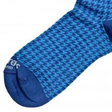 Houndstooth Blue and Azure Socks