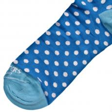 Blue with White Polka Dots Socks