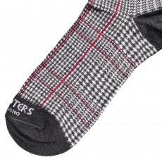 Red and Grey Glencheck Socks