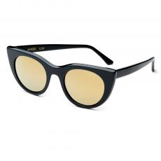 ANGEL Black Acetate Frame with Dark Gold Lenses
