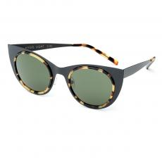 ANGEL LIGHT Satin Black Frame with Green Lenses