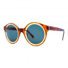 ISA Sandwich Havana Acetate Frame and Green G15 Lenses