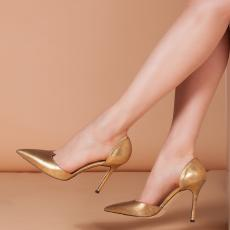 ESSENTIAL Gold Nappa Leather Pumps