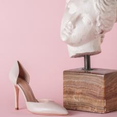 ESSENTIAL Ivory Nappa Leather Pumps