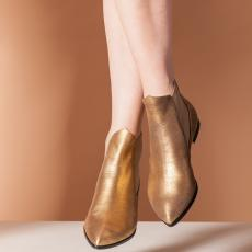 TRISTANE GOLDEN Leather Ankle Boots