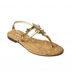 LIGHT with Golden Stars Embellished Sandals