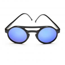 LEMURE Black Frame with Blue Mirrored Lenses