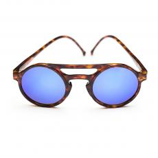 LEMURE Tortoise Frame with Blue Mirrored Lenses