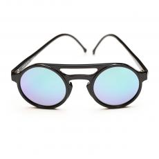 LEMURE Black Frame with Green Mirrored Lenses