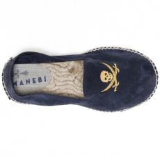 ANTIGUA Embroidered Suede Patriot Blue Espadrilles