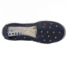 LONDON Blue Suede with Bronze Studs Espadrilles