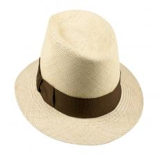 LOJA Classic Toquilla Straw Panama Hat with Tobacco Ribbon