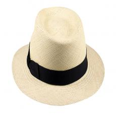 LOJA Classic Toquilla Straw Panama Hat with Black Ribbon
